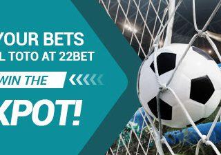 Vinci un jackpot di calcio a 22Bet!
